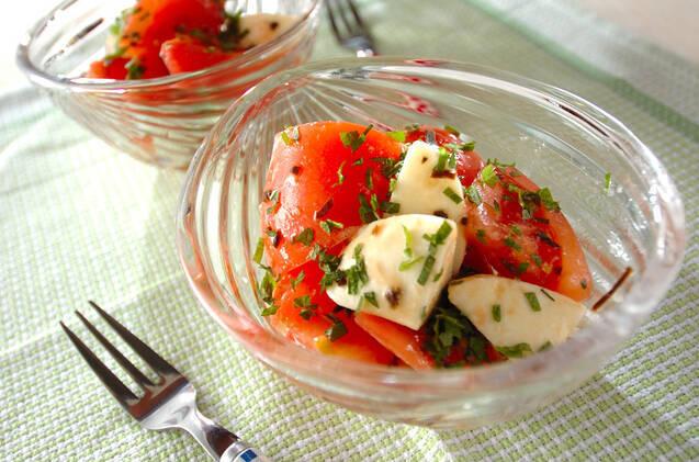 トマトとしその和風カプレーゼ
