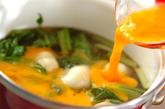 青菜とユリネの卵とじの作り方2