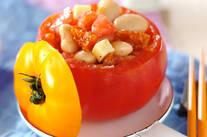 豆サラダのトマトカップ