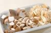 鯛とキノコの雑炊の作り方の手順2