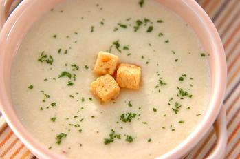 豆腐入りジャガスープ