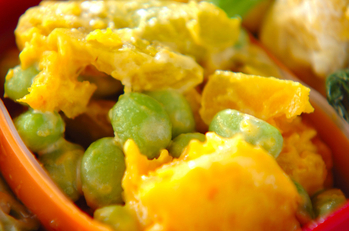 カボチャと枝豆のマヨサラダ