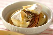 焼き玉ネギのカマンベールチーズのせ