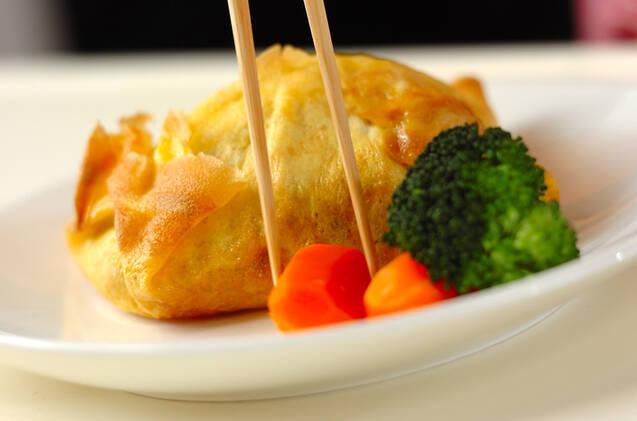 卵包み蒸し焼き豆腐ハンバーグの作り方の手順7