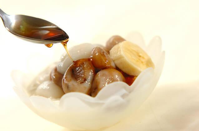 コーヒー風味の白玉入りヨーグルトの作り方の手順4