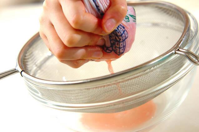 スイカの生搾りジュースの作り方の手順2