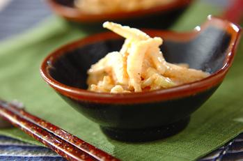 セロリと明太子のサラダ