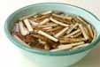 ゴボウのゴママヨ酢和えの下準備1