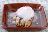 アスパラ温泉卵のせ
