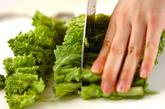 ハマグリと菜の花のスープパスタの下準備2