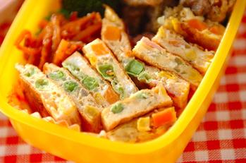 カラフル野菜のオムレツ