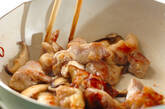鶏肉とシイタケのシンプルピリ辛炒めの作り方3