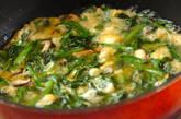春菊の卵とじの作り方3