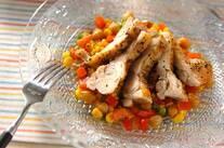 鶏のペッパー焼き