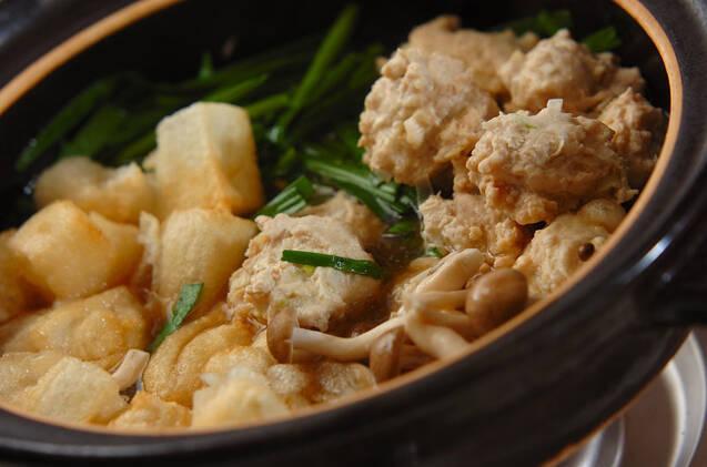 揚げ餅入りみぞれ鍋の作り方の手順8