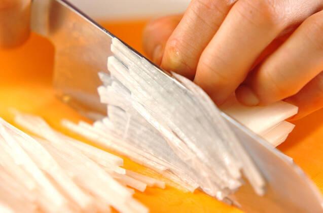 お刺身サラダの作り方の手順1