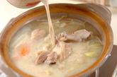 鶏肉のキムチ豆乳仕立ての作り方2