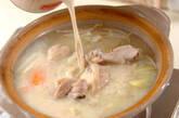 鶏肉のキムチ豆乳仕立ての作り方11