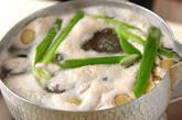 鶏肉のキムチ豆乳仕立ての作り方10