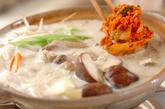 鶏肉のキムチ豆乳仕立ての作り方3