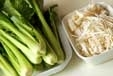 青菜のゴマ和えの下準備1