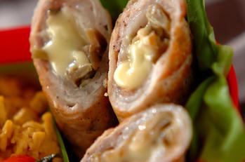 ザーサイとチーズの肉巻き