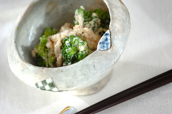 ブロッコリータラコ豆腐ソース和え