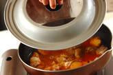 サツマイモと鶏肉のコチュジャン煮の作り方2