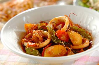 イカとジャガイモの簡単炒め