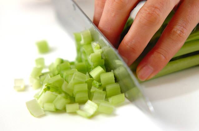 小松菜卵スープの作り方の手順1