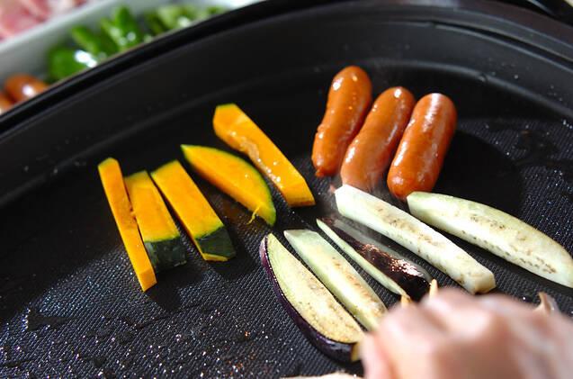 ホットプレート焼き肉の手巻き寿司の作り方の手順12
