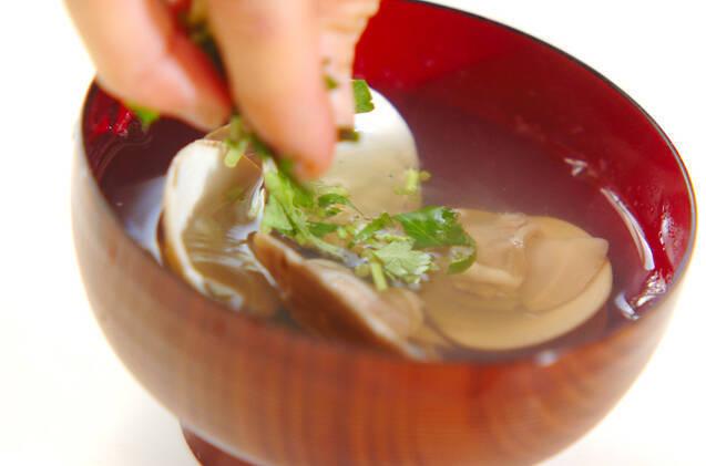 貝のお吸い物の作り方の手順4