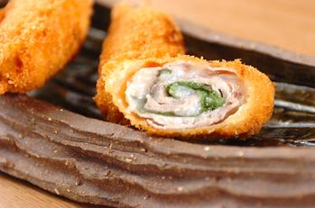 串カツ・豚肉ともち