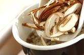 シイタケ・シメジのかき玉汁の作り方1