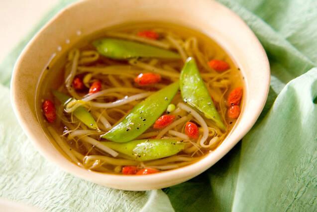 モヤシの中華スープ
