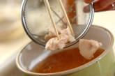ささ身と豆腐のお吸い物の作り方4