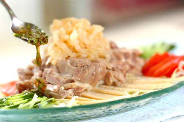 鶏肉の中華サラダの作り方の手順3