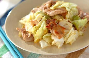 豚肉とキャベツのシンプル炒め