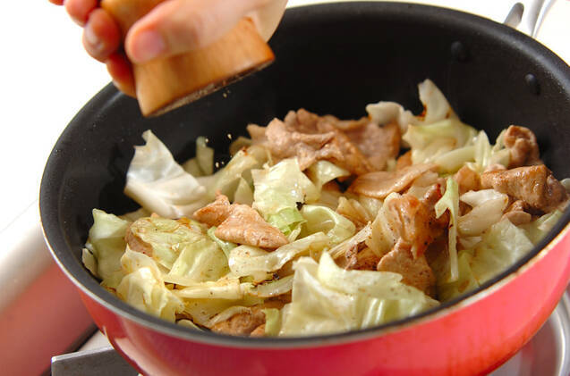 豚肉とキャベツのシンプル炒めの作り方の手順4
