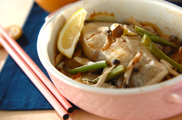4 白菜と魚の蒸し焼き