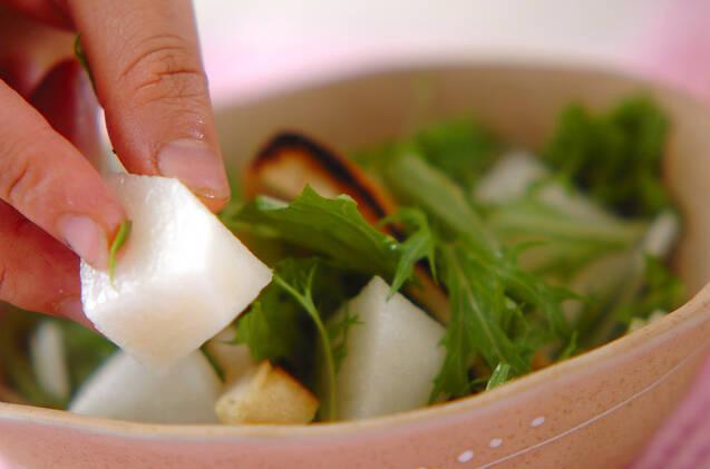 水菜のサラダの作り方の手順5