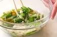 青菜とエノキのお浸しの作り方1