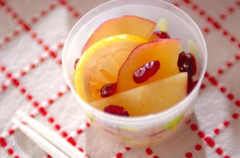 サツマイモとクランベリーのレモン煮