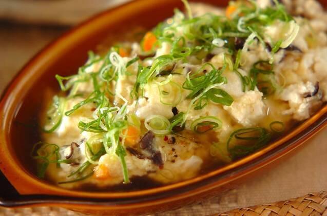 レンジ蒸し豆腐