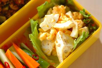 ゆで卵のユズマヨ風味