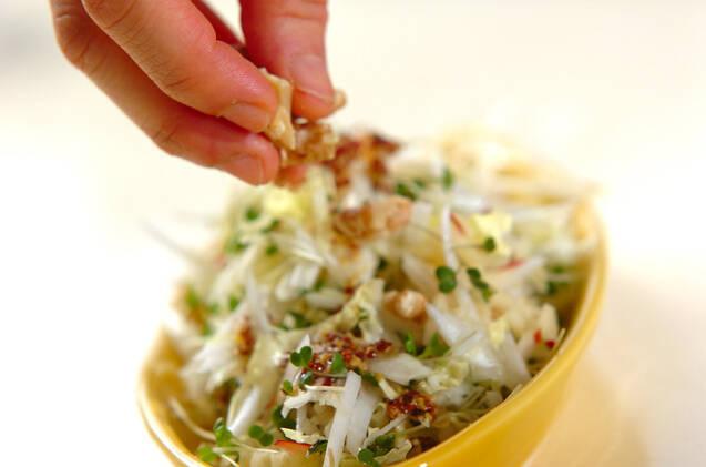白菜とリンゴのサラダ マスタードドレッシングの作り方の手順6