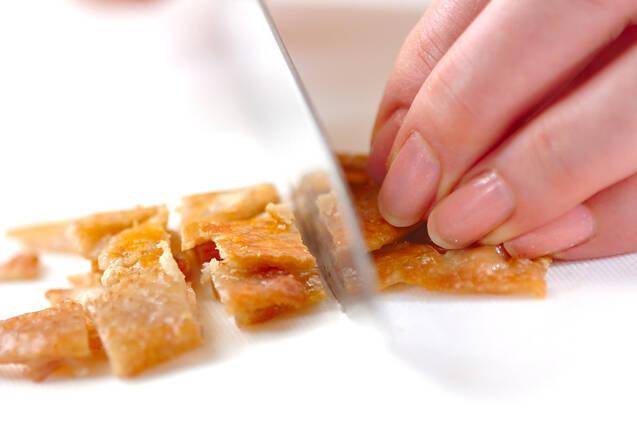 鶏皮のパリパリ焼きの作り方の手順3
