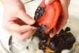 パプリカの甘酢和えの下準備1