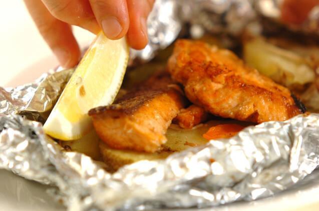甘塩鮭のホイル焼きの作り方の手順8
