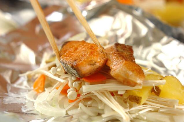 甘塩鮭のホイル焼きの作り方の手順7